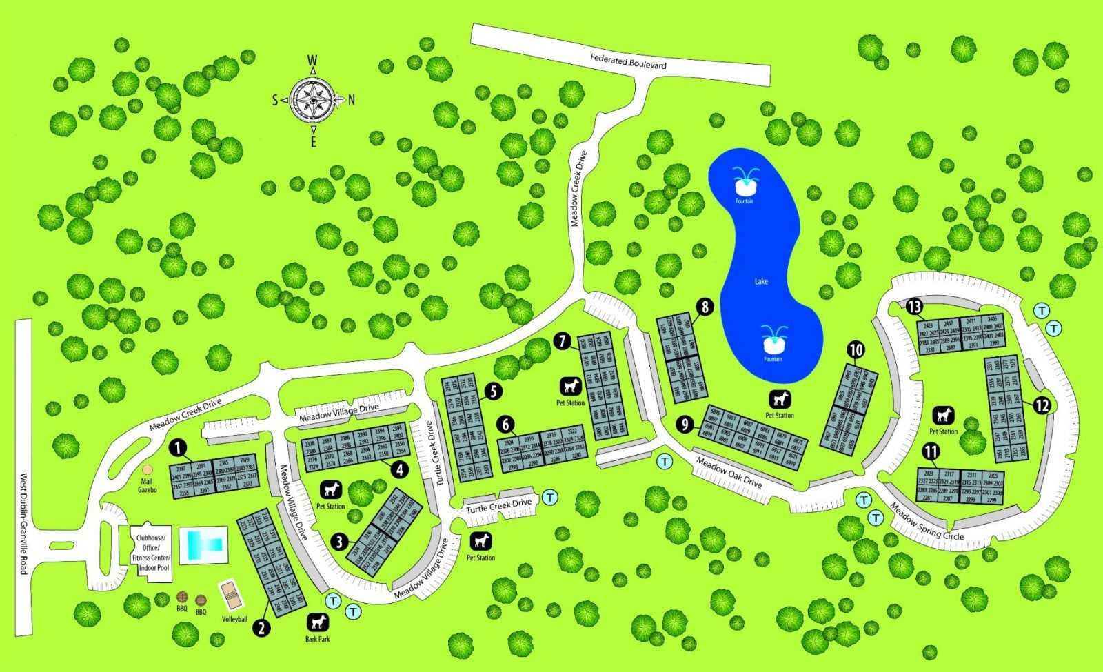 TGM Meadow View Apartments Map