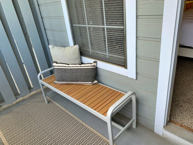 This image shows the private patio or balcony that was ideal for relaxation while gazing in the spectacular view of the warm breeze.